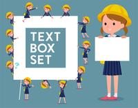 flat type Nursery school girl_text box