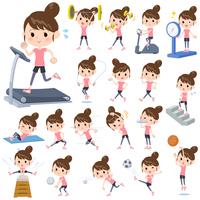 Bun hair mom Sports & exercise