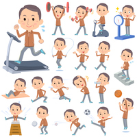Brown wear Middle aged man Sports & exercise