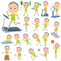 Green wear grandfather Sports & exercise
