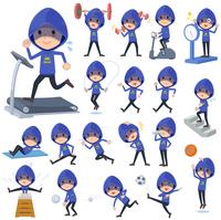 Blue Parker hacker men_Sports & exercise