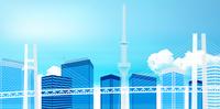 ベイブリッジ 橋 東京 背景