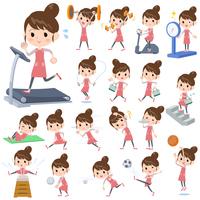 Ballet Bun hair Apron mom_Sports & exercise