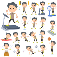 Beige wear man Sports & exercise
