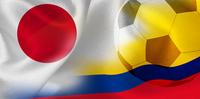 日本 コロンビア  国旗 サッカー