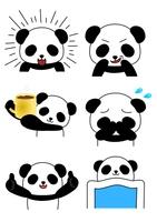パンダ6パターン 生活 表情 上半身