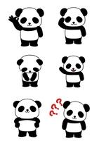 パンダ6パターン 基本的表情