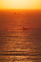 朝の太平洋と日の出・千葉県勝浦市官軍塚