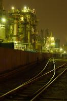 川崎重工業地帯の工場夜景