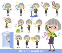 green shirt old women_complex