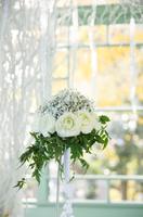 出迎えてくれた白いバラ