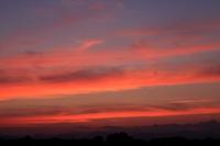 グラデーションした夕焼け空