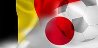 ベルギー 日本  国旗 サッカー