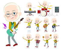 Yellow Ocher knit old man White_pop music