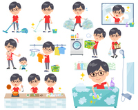 red Tshirt Glasse men_housekeeping