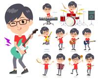 red Tshirt Glasse men_pop music