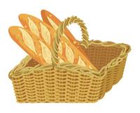バスケットに入ったフランスパン