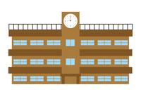 学校 建物 時計 アイコン