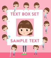 mischievous young  women_text box