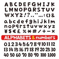 アルファベットと数字 フォント