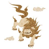 伝統的狛犬のイラスト