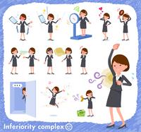 flat type Gray suit business women_complex