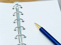 リングノートとボールペン