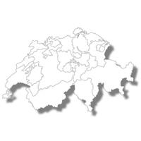 スイス 国 地図 アイコン