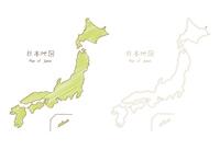 手書きの日本地図