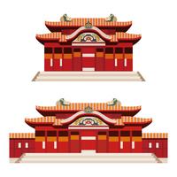 沖縄 首里城 歴史的建造物イラスト