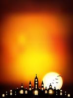 ハロウィン 城 秋 背景
