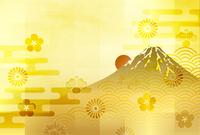富士山 年賀状 和紙 背景