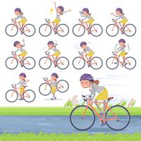 flat type Behind knot hair women_road bike