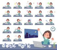 flat type tunic Middle women_desk work