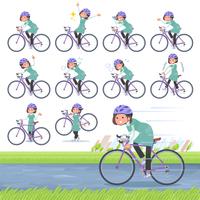 flat type tunic Middle women_road bike