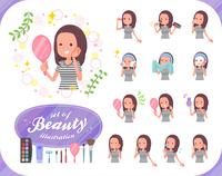 flat type Long hair women_beauty