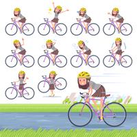flat type Long hair women_road bike