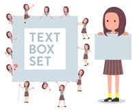 flat type Long hair women_text box