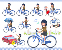 flat type school girl Brown Blazer_city cycle