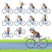 flat type school girl Brown Blazer_road bike