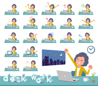 flat type Yellow jacket Middle women_desk work