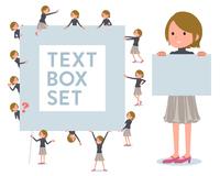 flat type Short hair women_text box
