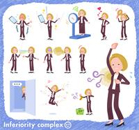 flat type blond hair business women_complex