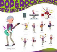 flat type Purple clothes grandmother_pop music