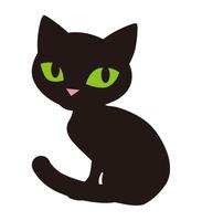 黒猫 - ハロウィン素材