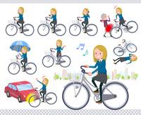 flat type school girl White_city cycle