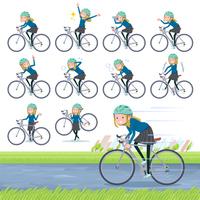 flat type school girl White_road bike