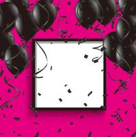 黒とピンクのお祝い背景