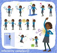 flat type School girl Black_complex