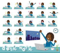 flat type School girl Black_desk work